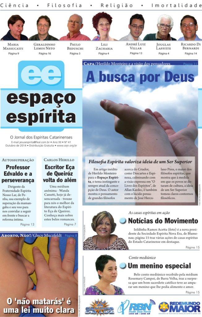 Jornal Espaço Espírita 41 - Outubro 2014