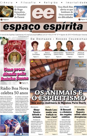 Jornal Espaço Espírita 37 - Agosto 2013